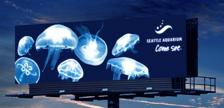 Seattle Aquarium Blacklight Billboard